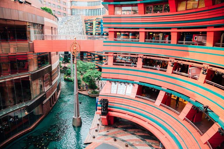 View of Canal City, Fukuoka, Japan.