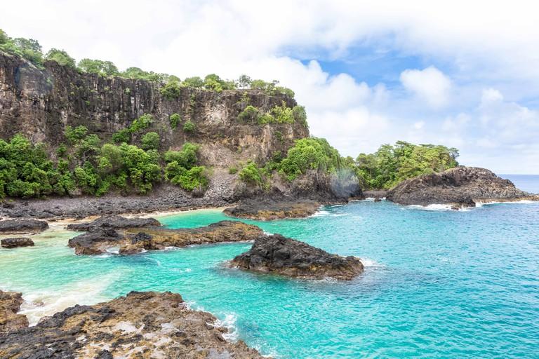 Fernando de Noronha, Brazil. Baia dos Porcos beach in this Brazilian paradise. Archipelago Fernando de Noronha.