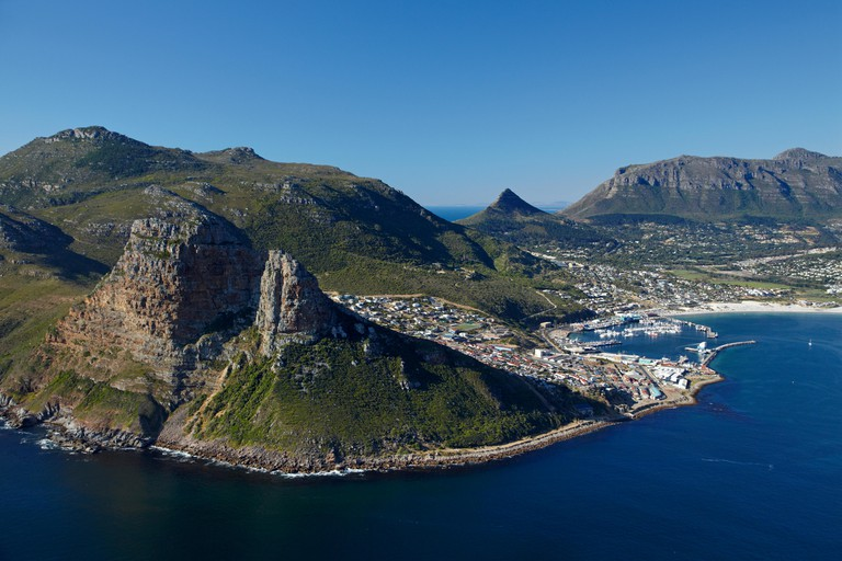 The Sentinel (left) and Hout Bay, Cape Town