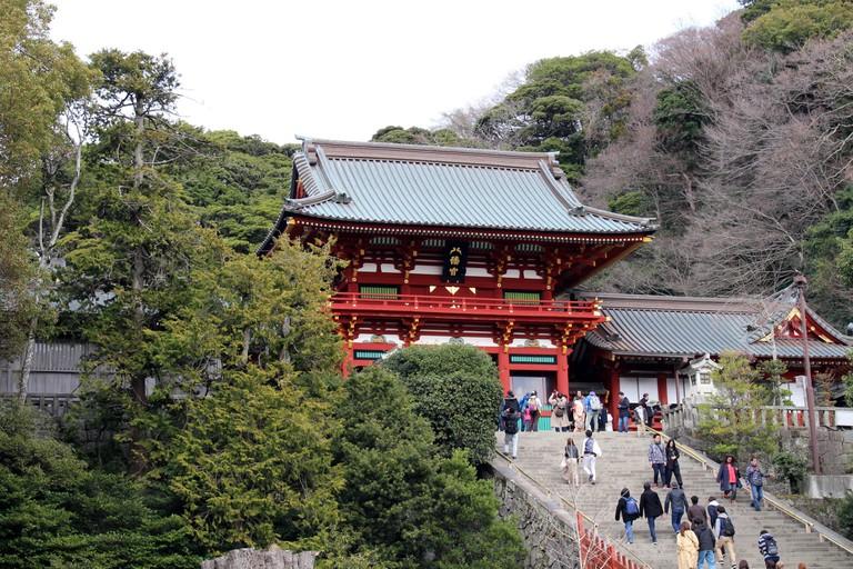 The shrine complex of Tsurugaoka Hachimangu of Kamakura. Japan.
