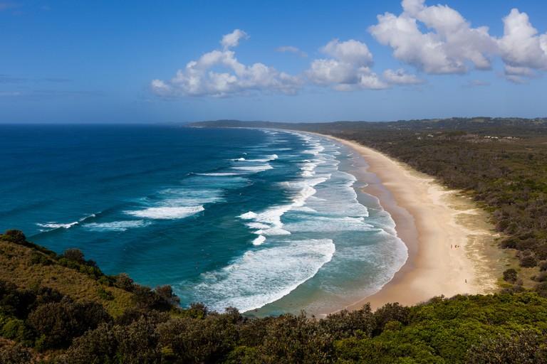 Tallow Beach in Byron Bay, New South Wales, Australia