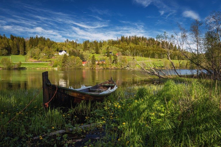 Spring time by the lake near Trondheim, Norway