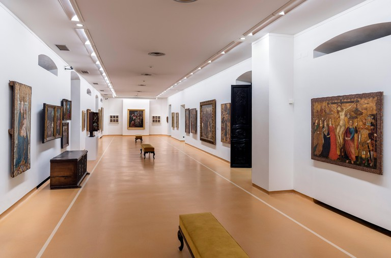 Interior of the Museo de Bellas Artes (Fine Arts Museum), Oviedo, Asturias, Spain