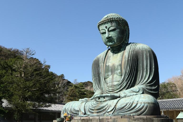 Daibutsu, Great Buddha statue at Kotoku-in temple, Kamakura, Japan.