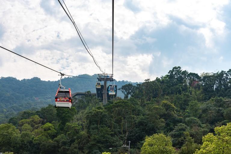 Maokong gondola which operates between Taipei Zoo and Maokong