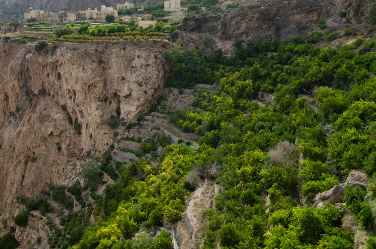 The green mountains called Jebel Akhdar home of traditional rose harvesting and fruit farming