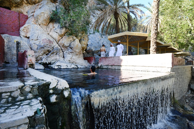 The Al Thowarah Hot Springs in Nakhl