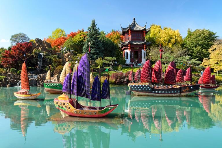 Montreal Botanical Garden (chinese garden), Quebec, Canada.