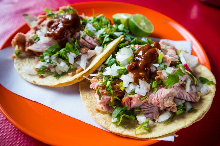 Carnitas Tacos in Mexico City