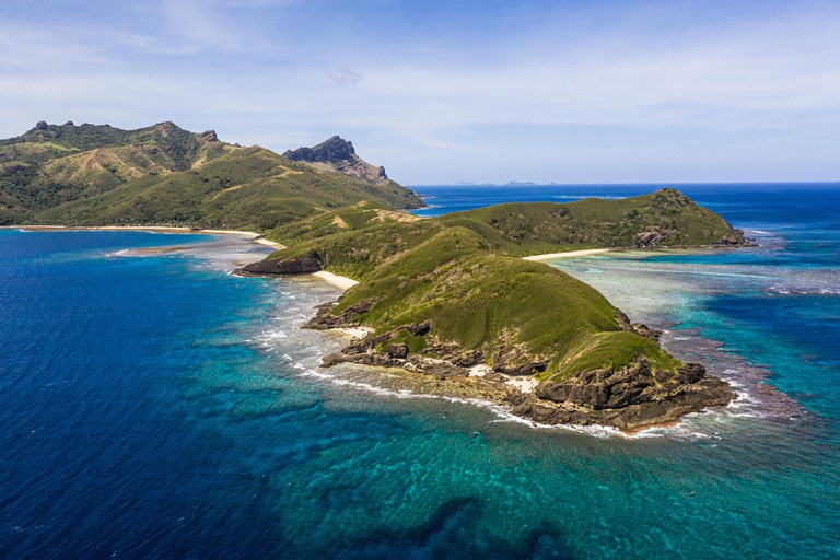 Stunning view of the Yasawa island in Fiji in the south Pacific ocean