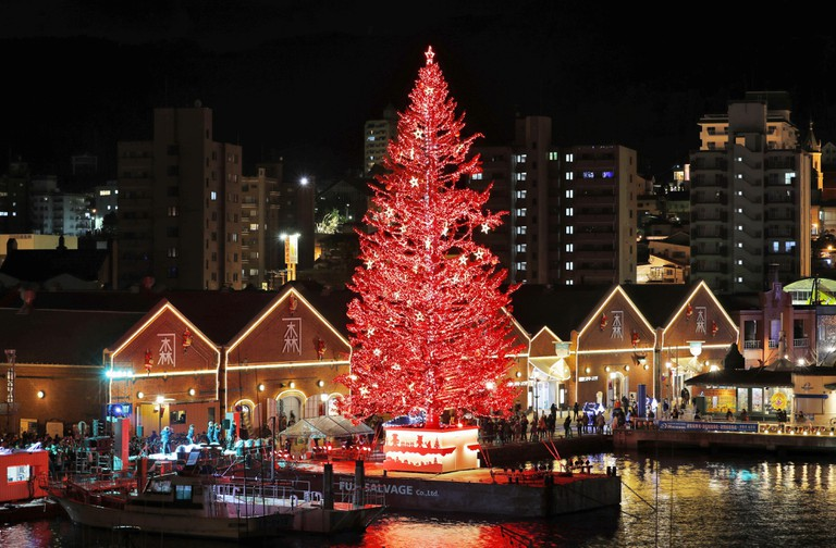 A huge Christmas tree in Hakodate