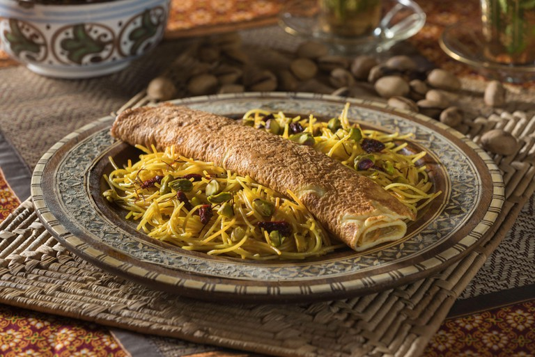 Balaleet. Traditional Arabic vermicelli dish. Middle East Food