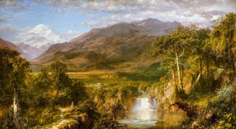 Frederic Edwin Church, The Heart of the Andes, landscape painting, 1859