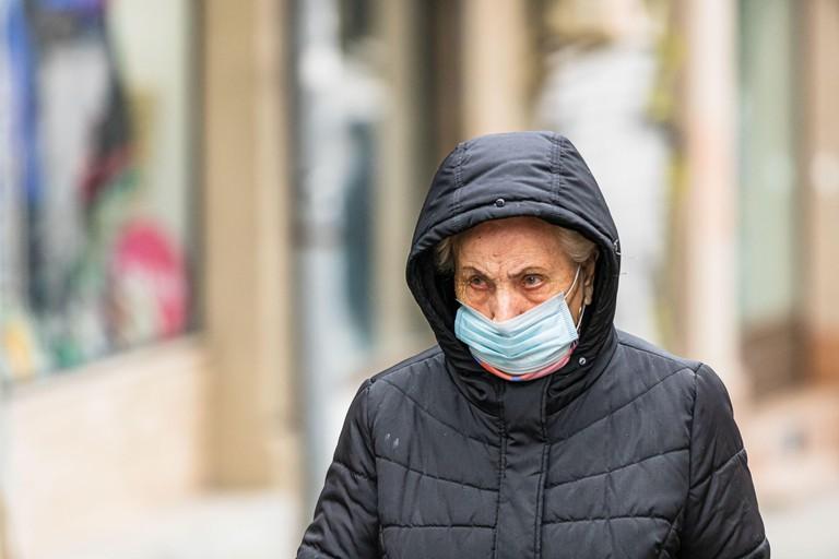 Woman wearing medical mask during Coronavirus outbreak