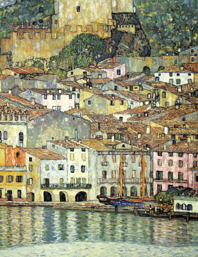 Malcesine on Lake Garda. Image shot 1913. Exact date unknown.