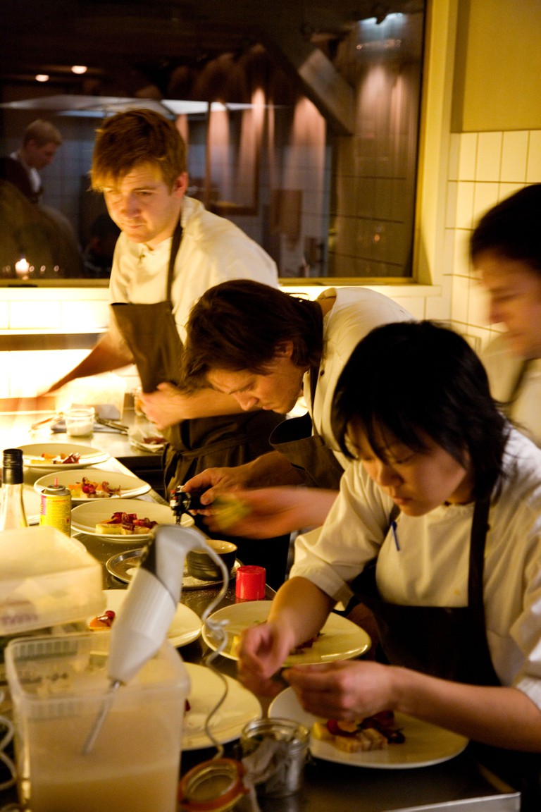 Noma restaurant one of Copenhagens finest restaurant serving food based solely on Nordic ingredients
