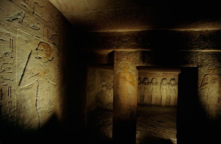 Egypt, Old Kingdom, Tomb of Queen Meresankh III,  eastern cemetery Giza