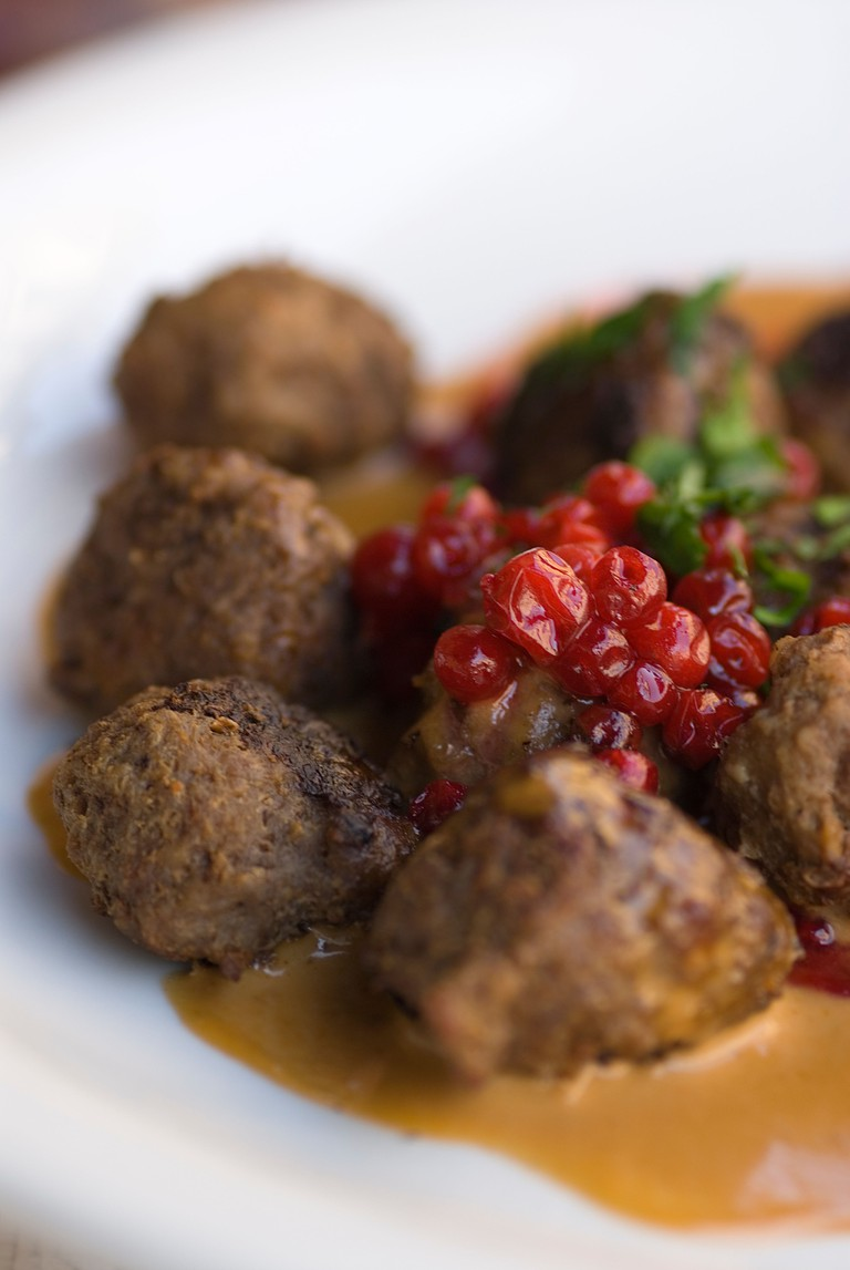 Swedish Meatballs with Lingonberries