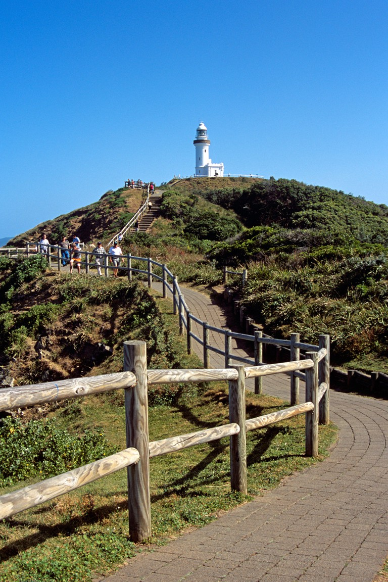 Clifftop walk and lighthouse, Byron Bay, Cape Byron, New South Wales, Australia