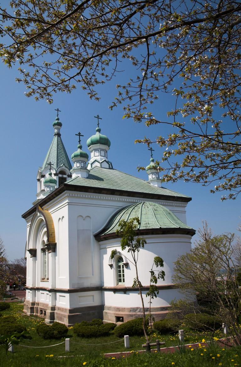 Russian orthodox church in Motomachi district, Hakodate.