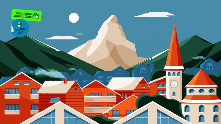 Swiss Alps illustration
