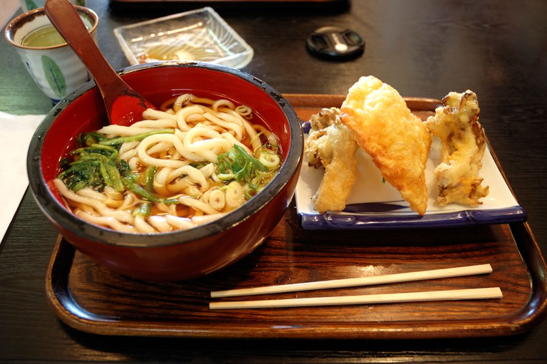 Yuba at a Japanese restaurant in Nikko