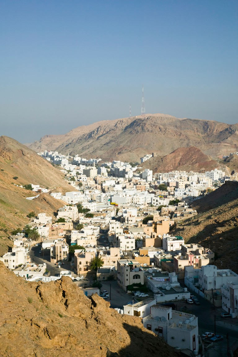 Oman, Muscat, Ruwi. Ruwi / Al Hamriya from elevated Yiti Road / Morning