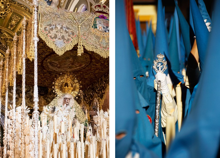 Semana Santa or Holy Week procession for Easter, Seville, Andalusia, Spain, Europe