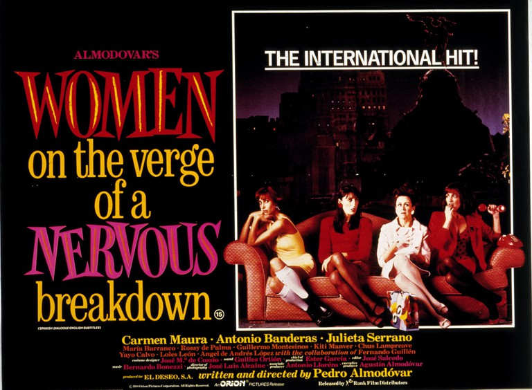 WOMEN ON THE VERGE OF A NERVOUS BREAKDOWN (1988) POSTER WOTV 041