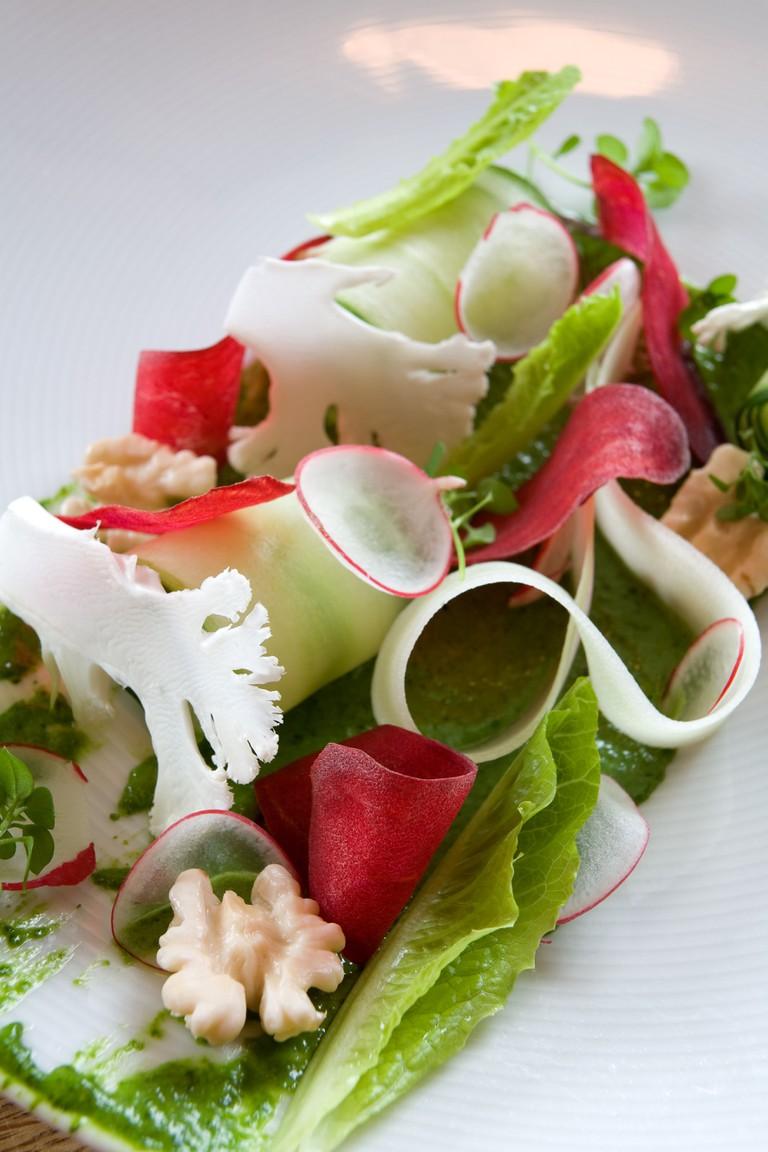 Fresh ingredients at restaurant Noma
