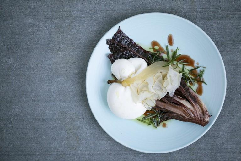 Burrata, Balsamic Roasted Treviso & Pear. Image credit - Gerardo Jaconelli