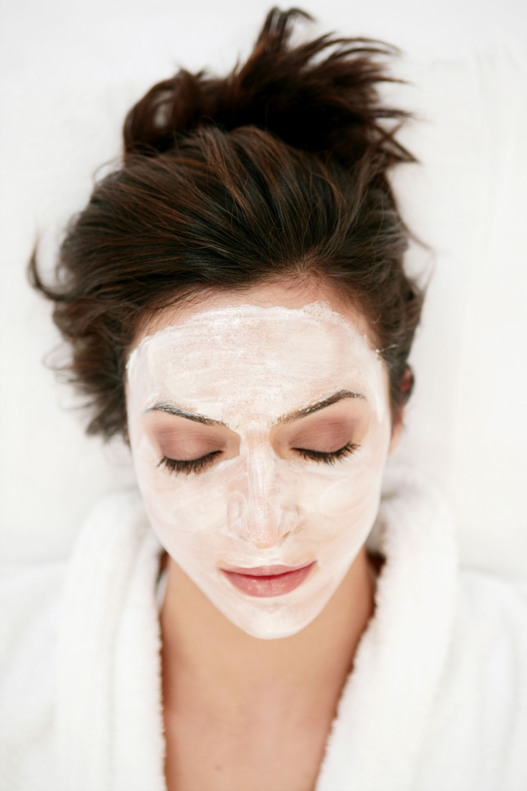 wearing, young, woman, face pack, face mask, model, adult, female, 20-25 years, 18-19 years, caucasian, beauty, face, beauty car