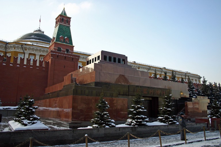 Lenin's tomb in Red Square, Moscow