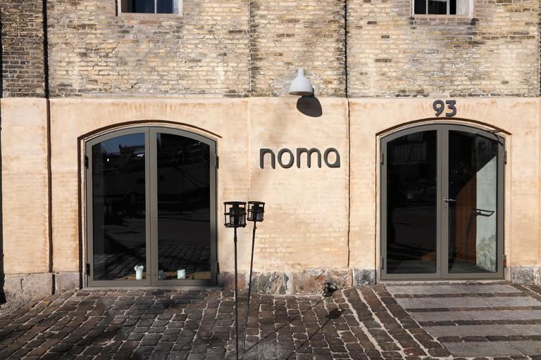 Entrance to the famous restaurant noma on Strandgade in Copenhagen, Denmark