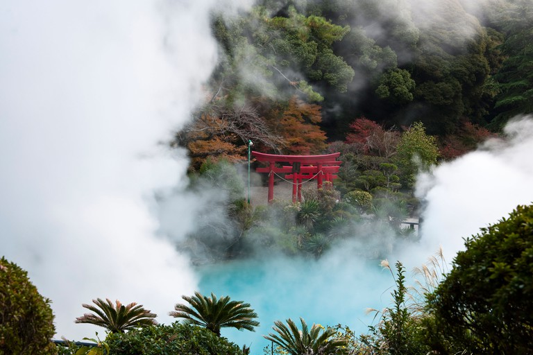 The Umi jigoku Springs, Hell of the Sea, Beppu, Japan.