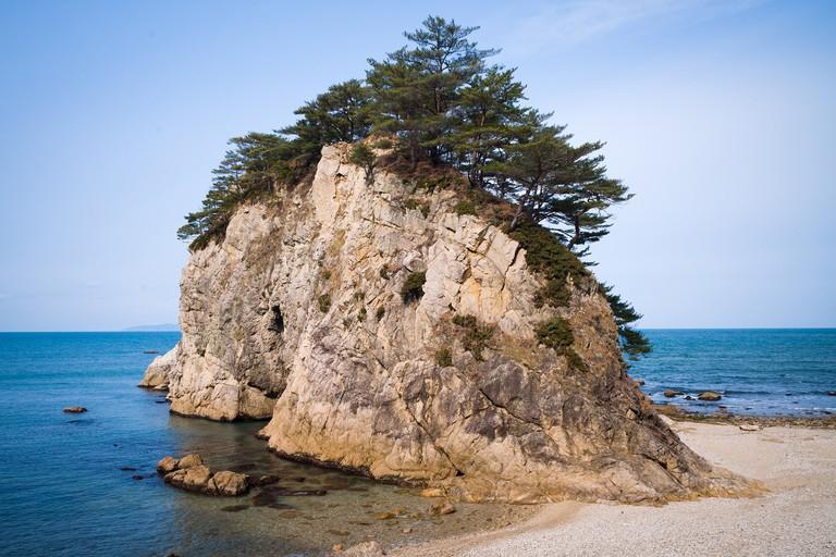 Sasagawa Nagare, 11 km coastline located in Murakami City, Niigata, Japan, 2020.