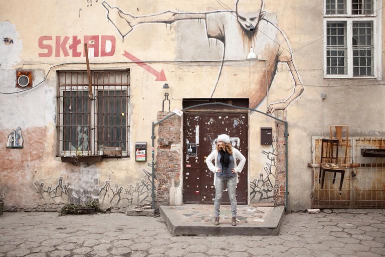 Sklad bar club graffiti Praga Warsaw Poland