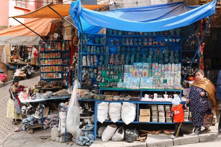 Witches Market area of La Paz