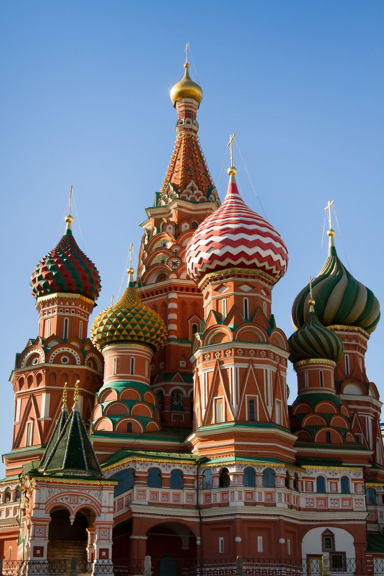Saint Basil Cathedral in Moscow on the Red Square