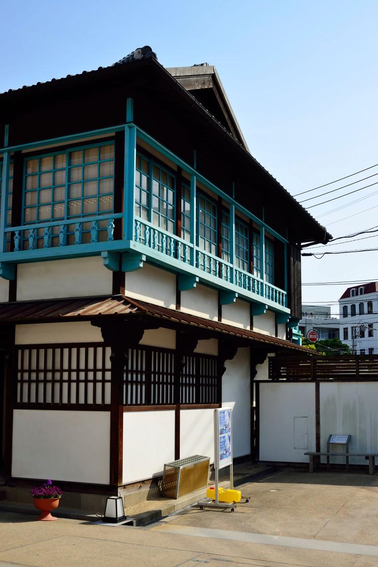 Historic Dutch houses at Dejima, Nagasaki