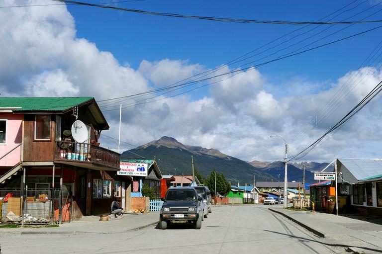 Street of Puerto Williams, Navarino Island, Tierra del Fuego