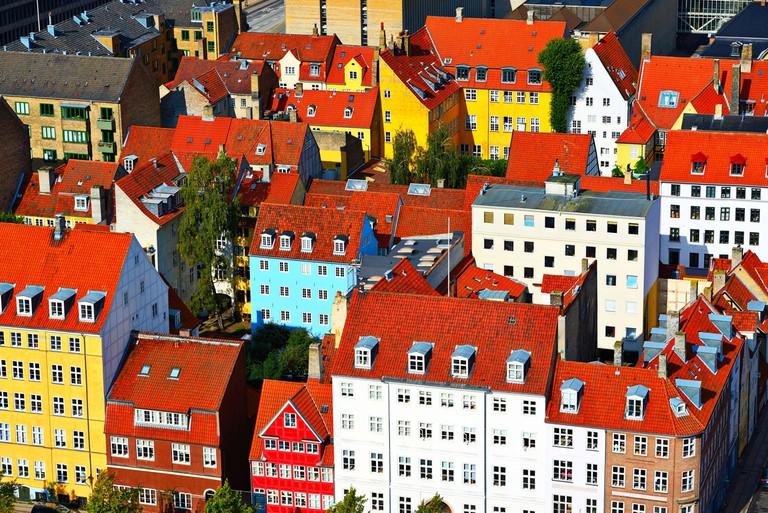 Residential buildings in Copenhagen, Denmark.