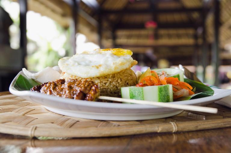 Nasi Goreng, Indonesian fried rice, Ubud, Bali