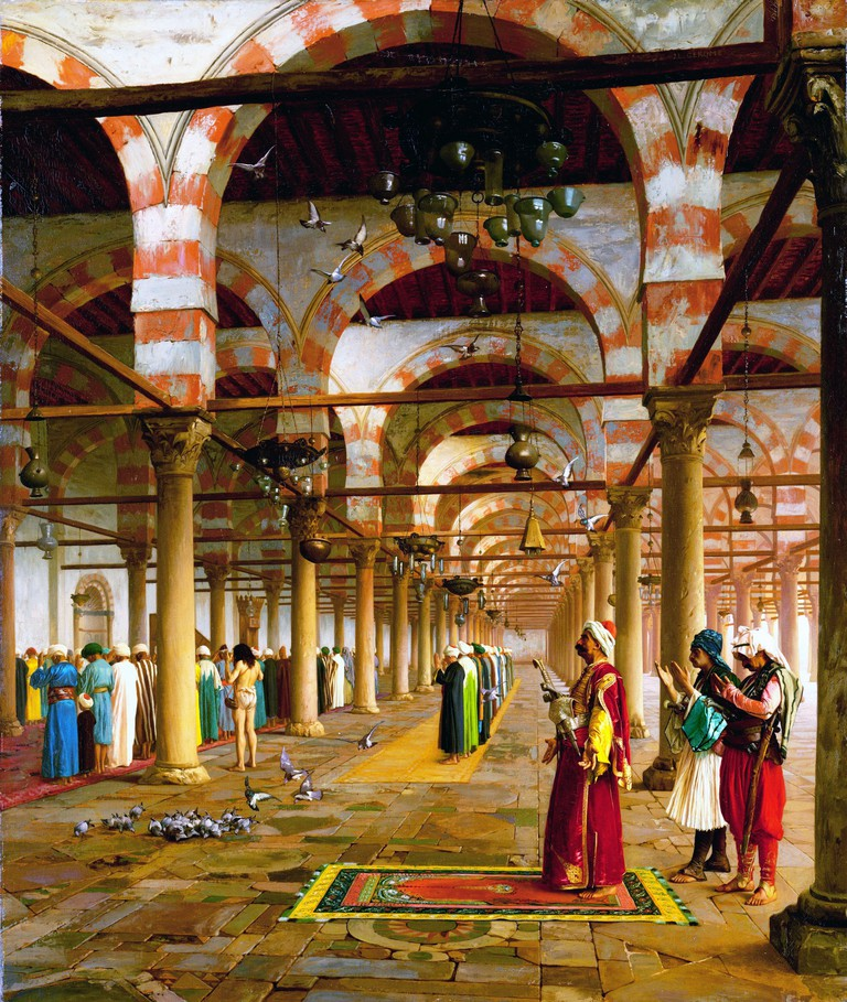Prayer in the Mosque  - by Jean-Leon Gerome, 1871