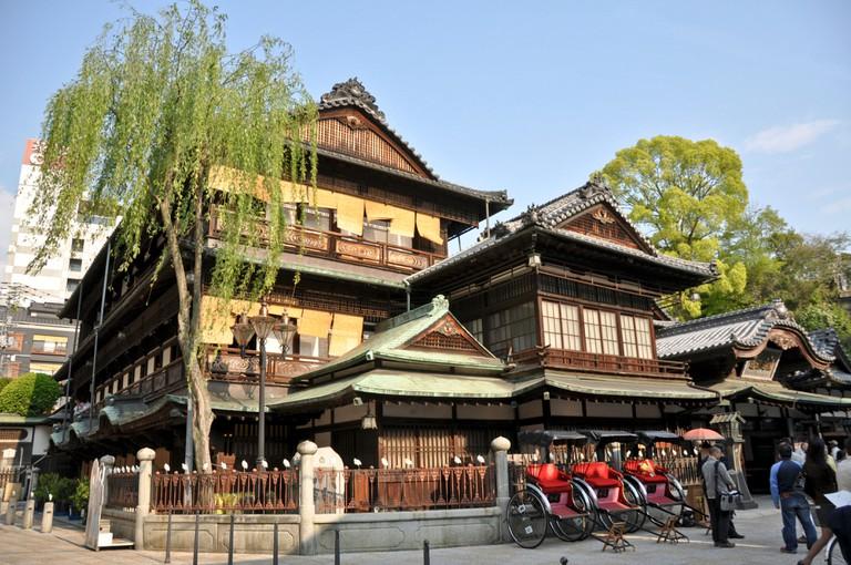 Dogo onsen, famous bathhouse in Matsuyama - Shikoku Japan