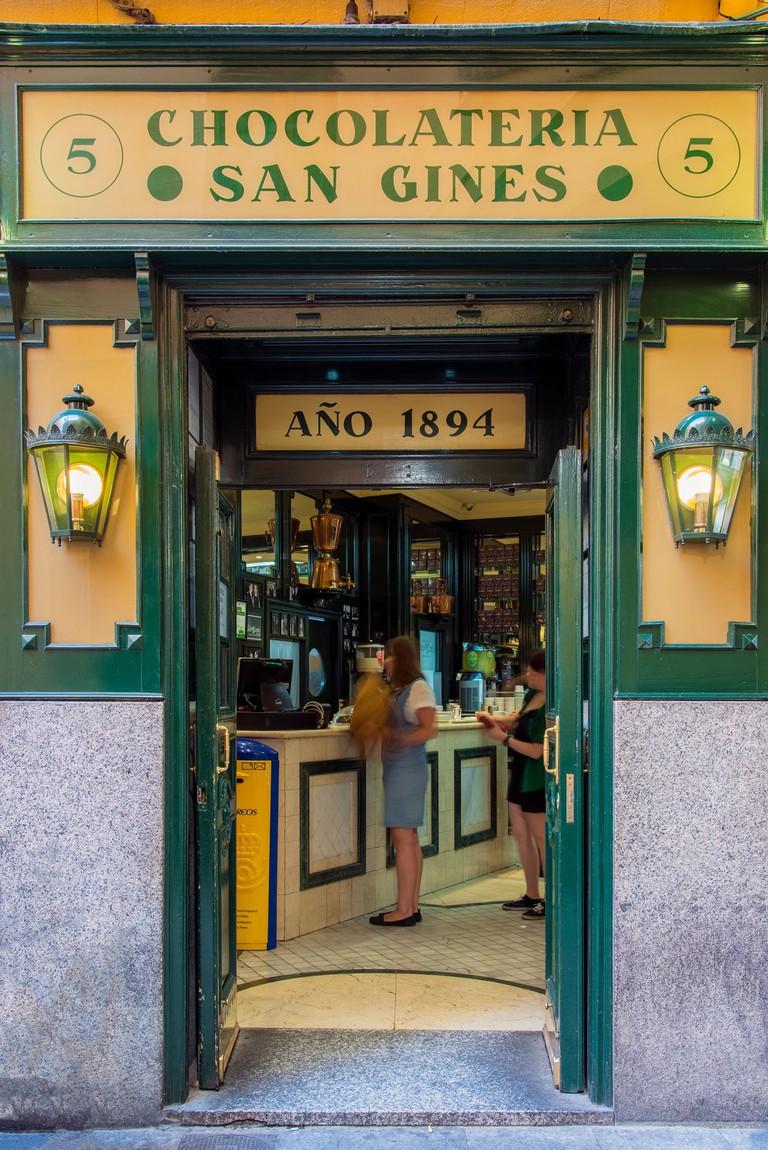 Chocolateria San Gines, Madrid, Comunidad de Madrid, Spain