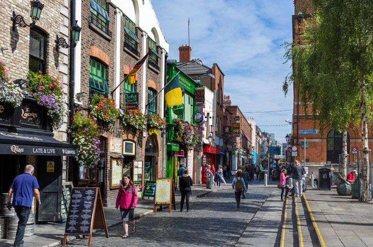 Pubs, restaurants and bars in the city centre, Dublin