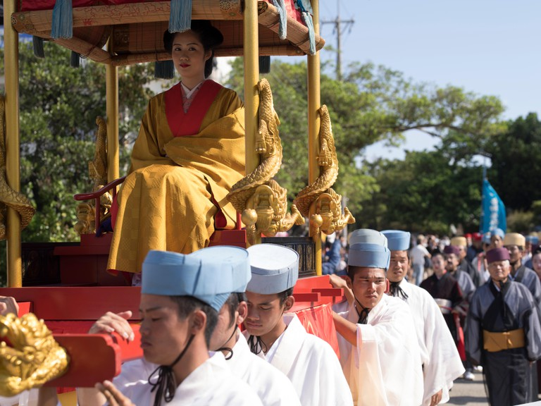 Shuri Castle Festival held in Naha City, Okinawa
