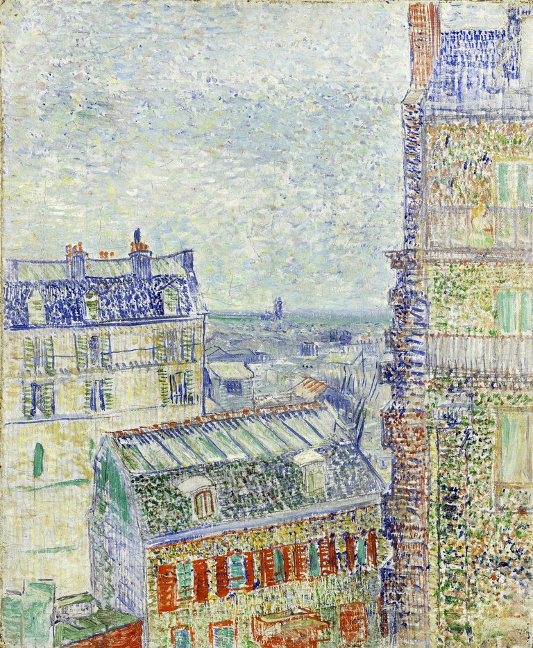 Vincent van Gogh, View of Paris from Vincent's Room in the Rue Lepic. 1887 Oil on canvas. Van Gogh Museum, Amsterdam.
