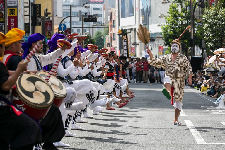 Eisa dancers at the Shinjuku Eisa Festival 2015